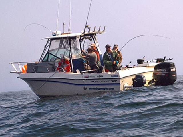 Morning Magic fishing boat in ocean